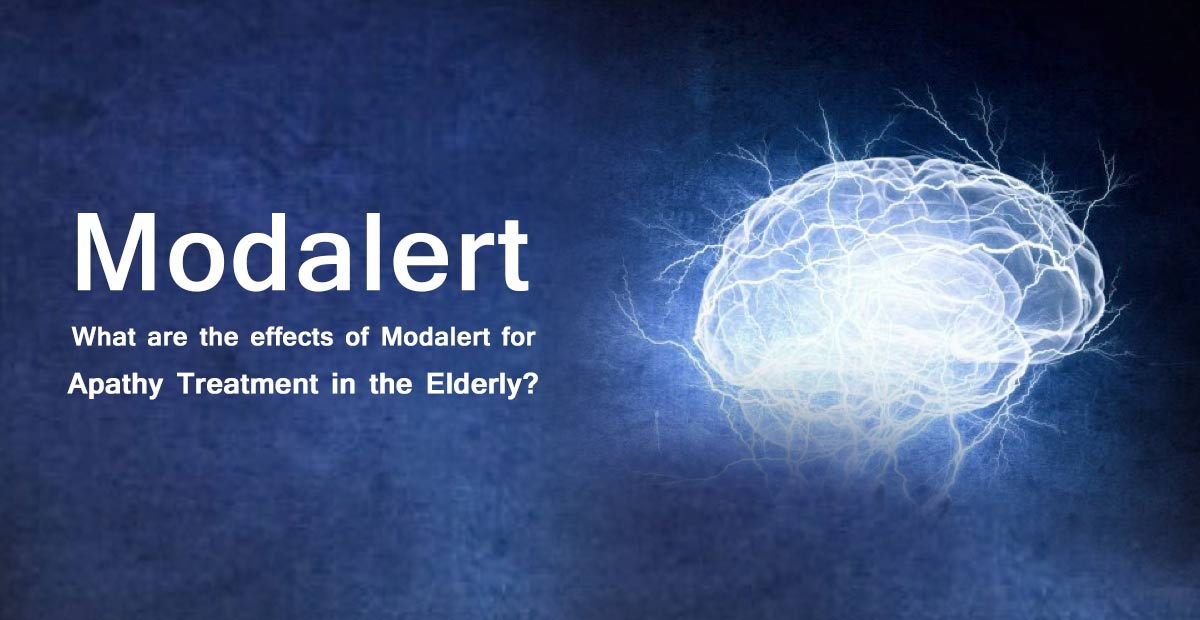 What are the effects of Modalert for Apathy treatment in the elderly?
